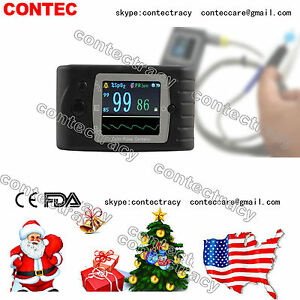 Us Ship Oled Fingertip Pulse Oximeter Spo2 Oxygen Heart Rate Monitor alarm sw