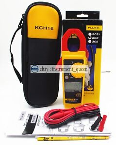 Fluke 303 Clamp Multimeter Kch16 Soft Case Ac dc Handheld 600a 4000 Backlight