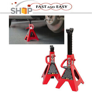 Steel Floor Jack Stands Heavy Duty Locking Car Trucks Lift 2 Ton Capacity 1 Pair
