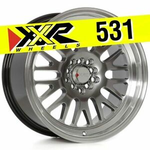 Xxr 531 17x9 5x100 5x114 3 25 Chromium Black Wheels Set Of 4