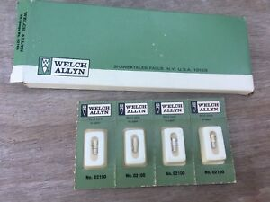 New Welch Allyn Genuine 02100 Replacement Bulbs Pack Of 4