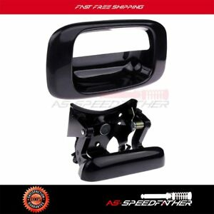 For 05 07 Chevy Silverado Gmc Sierra Tailgate Handle Cover Bezel Smooth Black