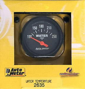 Auto Meter 2635 Z Series Electric Water Temperature Temp Gauge 100 250 2 1 16