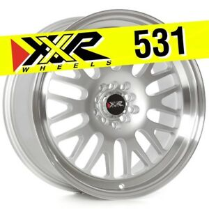 Xxr 531 18x8 5 5 100 5 114 3 35 Hyper Silver Wheels set Of 4