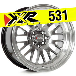 Xxr 531 16x9 4x100 4x114 3 0 Chromium Black Wheels set Of 4