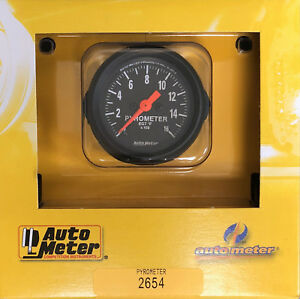 Auto Meter 2654 Z series Pyrometer Egt Gauge Kit 0 1600 F 2 1 16 Exhaust Temp