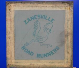 Vintage Zanesville Road Runners Softball Silk Screen T shirt Stencil Frame Ohio