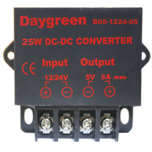 24v Dc Step Down 5v Dc Converter 5a Led Voltage Regulator 12v To 5v Wholesale