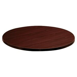 Hon Mahogany Round Laminate Table Top 36 Diameter Particleboard tld36gnnn