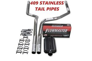 87 97 Ford F 150 Truck Stainless 2 5 Dual Exhaust Kit Flowmaster 40 Series