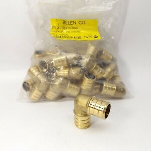 Lot Of 25 Allen Co 235 0100nl 3 4 Pex Elbow Brass No Lead