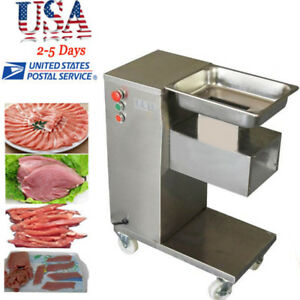 Commercial Meat Cutting Machine Meat Cutter Slicer 500kg W blade Set Kitchen Use