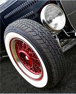 Spare White Wall Portawalls Side Wall Topper 15 X2 Wide Tire Insert Trim 2 Pcs
