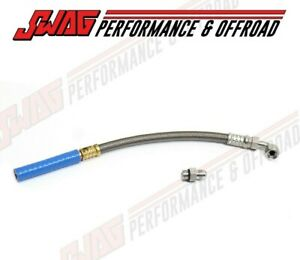 Swag Diesel Turbo Coolant Feed Line For 2011 2016 Ford Powerstroke 6 7l