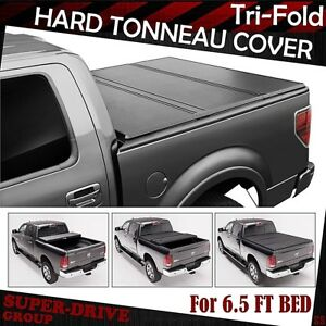 6 5ft Hard Solid 94 02 Dodge Ram 1500 2500 3500 Tri fold Lock Bed Tonneau Cover