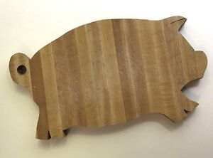 Pig Cutting Board Bread Board Vintage Primitive Wood Farmhouse Folk Art