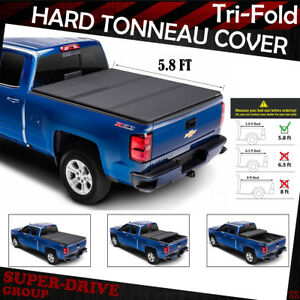 5 8 Ft Hard Solid 2004 2007 Chevrolet Sliverado Lock Tri fold Bed Tonneau Cover