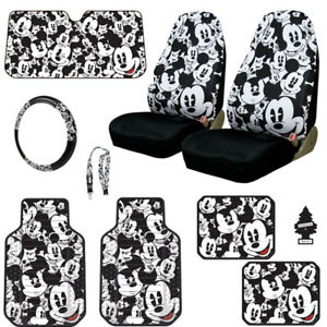 New Mickey Mouse 10pc Car Seat Covers Floor Mats And Accessories Set For Mazda