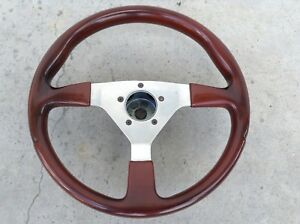 Grant Gt 14 Steering Wheel 3 Spoke Polished Wood Mahogany