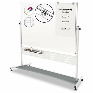 Mastervision Heavy duty Magnetic Reversible Easel 72 Width X 48 qr5507