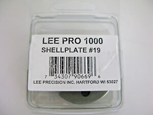Lee 90669 9mm Luger 40 S&W 10mm Pro 1000 Press Shell Plate #19