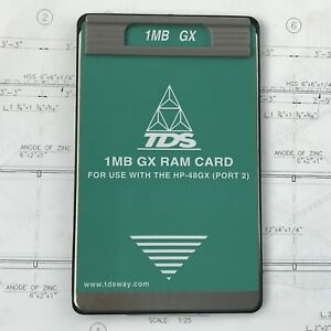 Tds 1mb Gx Ram Card For Hp 48gx Calculator Internal Rechargeable Battery Backed