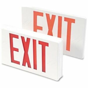 Tatco Led Exit Sign With Battery Back up exit Preprinted tco07230