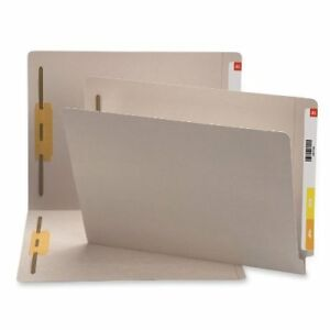 Smead 25849 Gray End Tab Colored Fastener File Folders With smd25849