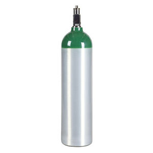 Md D Size 14 6 Cu Ft Aluminum Medical Oxygen Cylinder Tank Cga870 Valve New