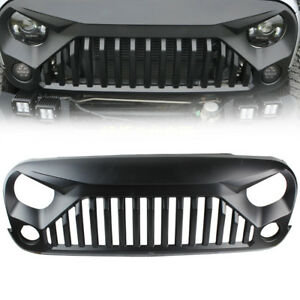 Black Grille Gladiator Front Matte Angry Bird Grill For Jeep Jk Wrangler 2007 17