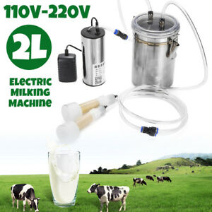 2l Portable Electric Milking Machine Vacuum Pump For Farm Sheep Goat Milking