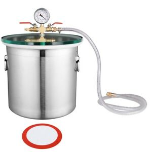 5 Gallon Stainless Steel Vacuum Chamber Degassing Urethanes Silicone Epoxies