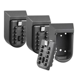 3x Wall Mount Security Key Storage Organizer Case Home Combination Lock Box Safe