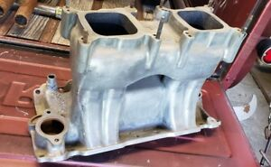 Small Block Chevy Edelbrock Tr1x Tunnel Ram Intake Manifold Rat Hot Rod Gasser