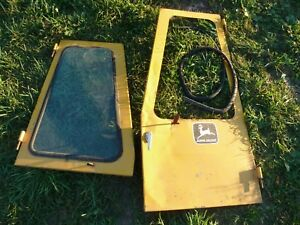John Deere Crawler Dozer Cab Door Window W glass 350 450 550 650 750 1010 2010