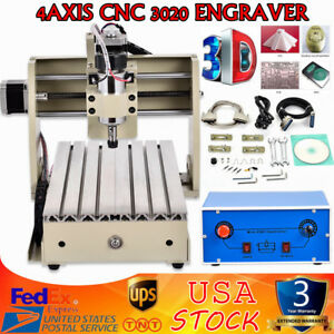 4axis Cnc 3020 Engraver Router Engraving Machine Milling 3d Diy Cutter Parallel
