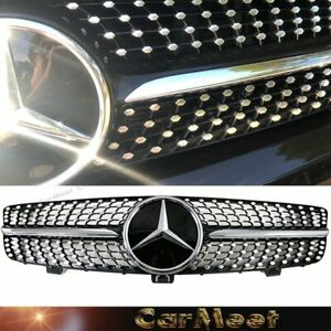 Fit Benz 09 10 W219 Cls sedan Black chrome Diamond Dot Tuning Front Frame Grille