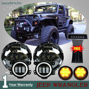 Jeep Wrangler Jk 7 Led Headlight 4 Fog Turn Signal Light Tail Lights Combo Kit