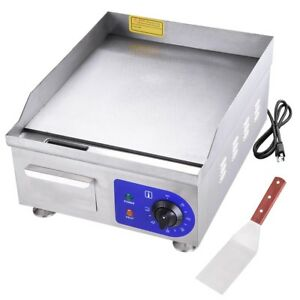14 Electric Countertop Griddle Restaurant Snack Bar Vegetables Meat Grill Bbq