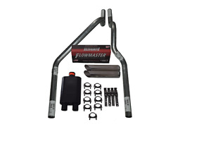 Dodge Dakota 97 05 2 5 Dual Exhaust Flowmaster 40 Series Slash Cut Tips