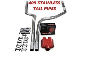 09 18 Dodge Ram 1500 Stainless Steel 2 5 Dual Exhaust Kit Cherry Bomb Extreme