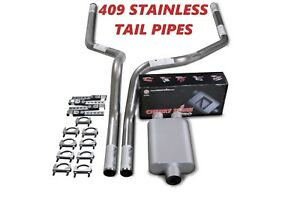 04 08 Dodge Ram 1500 Stainless Steel 2 5 Dual Truck Exhaust Kit Cherry Bomb Pro