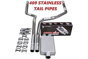 04 08 Dodge Ram 1500 Stainless Steel 2 5 Dual Exhaust Kit Cherry Bomb Vortex