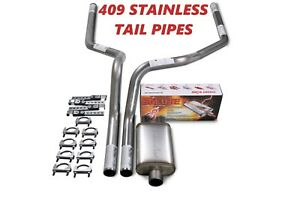 07 14 Chevy Gmc Truck Stainless 2 5 Dual Truck Exhaust Kit Cherry Bomb Salute