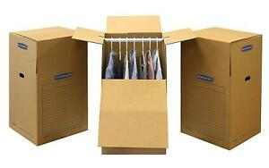 Wardrobe Moving Boxes Tall 24 X 24 X 40 Inches 6pack