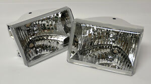 Euro Clear Front Headlights Pair Rh Lh Fits Jeep Grand Cherokee 1993 1998