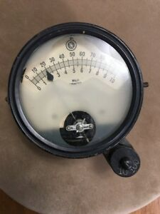 Vintage Large Victor X ray Milli ammeter Gauge 6 Inch Dia Ultimate Steampunk