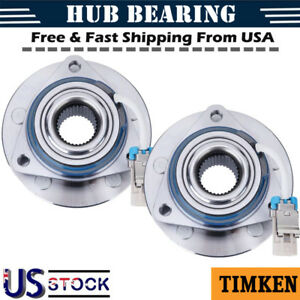 Timken Front Wheel Hub Bearing Assembly Pair For Chevy Pontiac Buick 513121