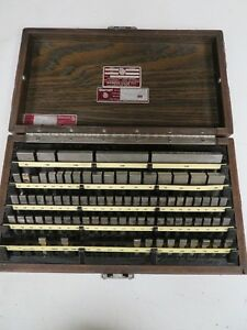 Starrett Webber English 81 Pc Gage Block Set Rect Steel Grade 2 Nb39