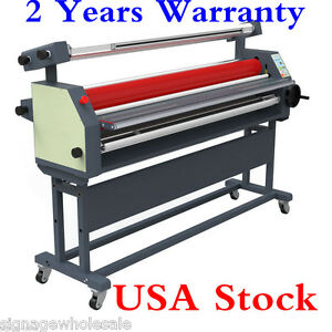 110v 63 Full Auto Wide Format Roll Heat Assisted Cold Laminator With Stand